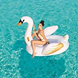 Inflatable swimming pool Été PVC Big Swan Gonflable Flottant Row Ring - Piscine Adulte Eau Lit Flottant Blanket Flottant Dérive Piscine Toy - pour La Piscine Party- 1,69 * 1,69 A
