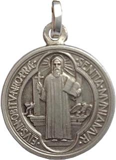 cd9fced008fb Medalla de San Benito de Plata de Ley 925 - Las medallas de Los Patronos