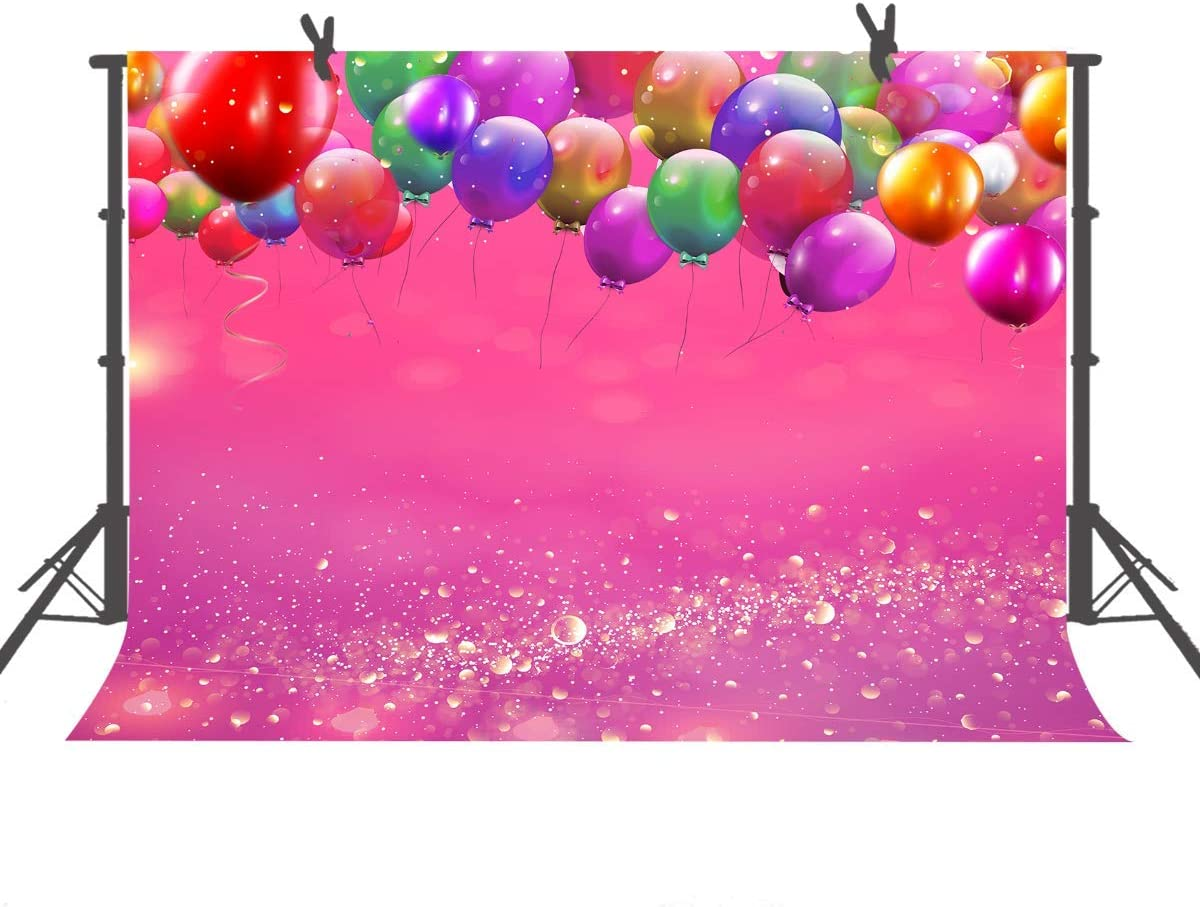 15x10ft Colorful Balloons Photography Backdrop Birthday Party Pink Purple Backdrops for Kid Baby Shower Decorative Banner Photo Studio Props HXFU235