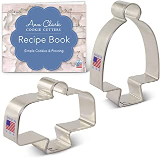 Ann Clark Cookie Cutters 2-Piece Cake StandCookie Cutter Set with Recipe Booklet, Arty Magoo Regular and Tall Cake Stands