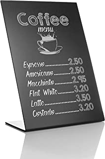 Rustic Mini Chalkboard Signs 8x11inches - Easy To Write And Wipe Out - For Liquid Chalk Markers And Chalk - Small Plastic Message Board Signs - Food Labels For Party - Small Chalkboard With Stand
