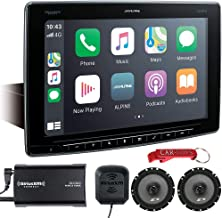 """$1049 » Alpine Halo11 iLX-F411 Car Stereo 11"""" Multimedia Receiver Music Lover's Bundle with Coaxial Speakers & SiriusXM Tuner. Ext..."""