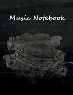 Music Notebook: Blank Sheet Music, Journal Paper, Lyric Diary and Manuscript Paper for Songwriters and Musicians
