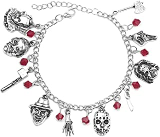 N/A/Horror Movie Charm Bracciale Catena Fantasma Uomo Donna Halloween Costume Gioielli Regalo
