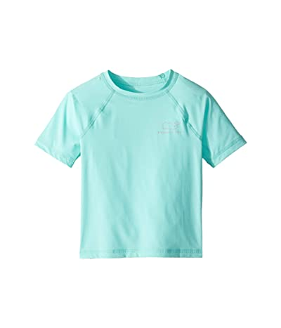 Vineyard Vines Kids Short Sleeve Vintage Whale Rashguard (Toddler/Little Kids/Big Kids) (Caicos) Girl