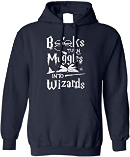 Books Turn Muggles Into Wizards Shirt for Book Lovers Hoodie Shirt
