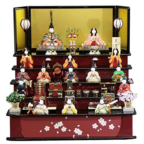 雛人形 木目込み 十五人揃 五段飾り芙蓉雛 1315 幅85cm (3mk1) 真多呂 古今段飾り 雛祭り