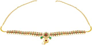 Handicraft Kottage 22K Gold Plated Kamarpatta/Kamar Chain For Women & Girls -Multicolor