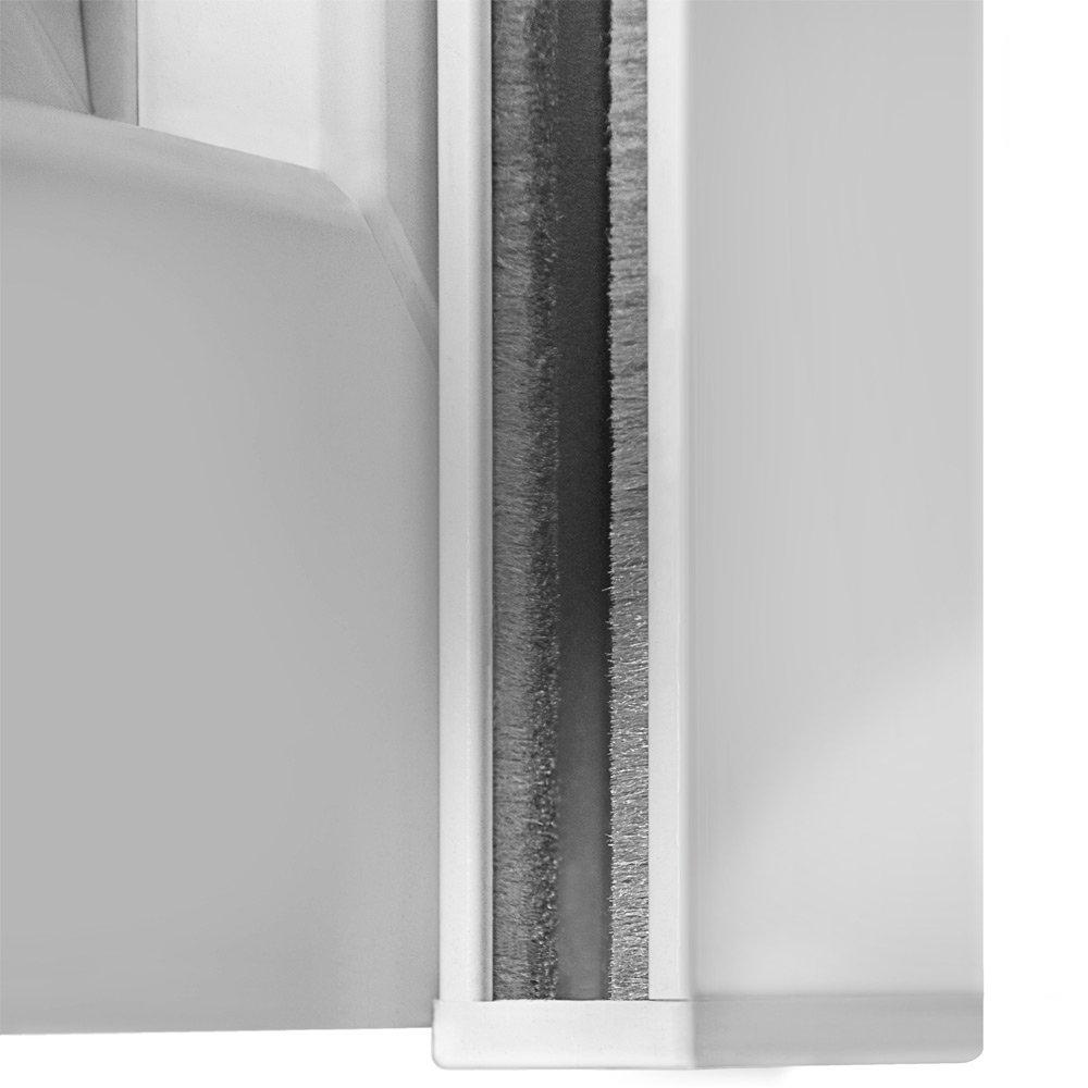 brr exactus – Tipo Corner, 39 mm de aluminio Láminas 149 x 160 cm con motor, Botones laterales: Derecho como Medida, Blanco: Amazon.es: Bricolaje y herramientas