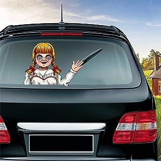 MIYSNEIRN Halloween Horror Annabelle Waving Wiper Decal for Rear Window 3D Cartoon Festive Car Sticker Reusable Waterproof...