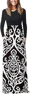 🌟 Sherostore 🌟 Women's Long Sleeve Loose Plain Maxi Dresses Casual Long Dresses with Pockets
