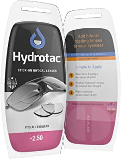 Optx 20/20 Hydrotac Stick-On Bifocal Reading Lens, +250