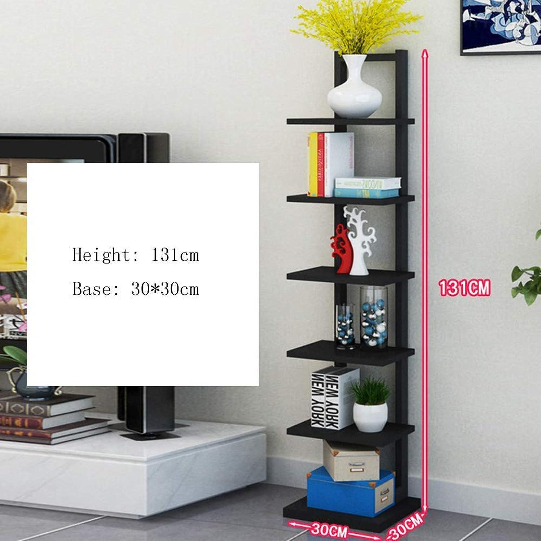 DYR Shelf Shelf Shelf Bookcase Bookcase Large Floating Shelf Tower Shelf 9 Shelves (color  Black)