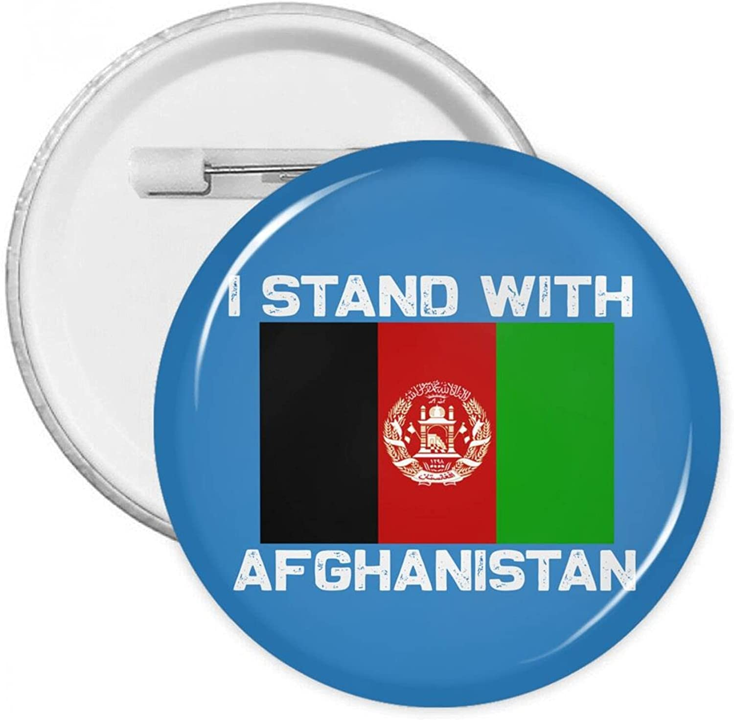 I Fresno Mall Stand With Afghanistan Round Pins Button Charlotte Mall Badges