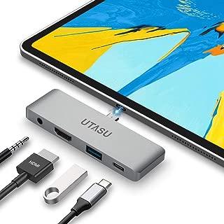 UTASU USB Type-C モバイル ハブ  4in1 2018 iPad Pro USB-C ハブ タイプC 4K HDMI USB 3.0 PD充電 3.5mm ヘッドホンジャック Nintendo Switch(任天堂スイッチ) サポートMicrosoft Surface Go/Surface Book 2/ChromeBook/MacBook/MacBook Pro 対応