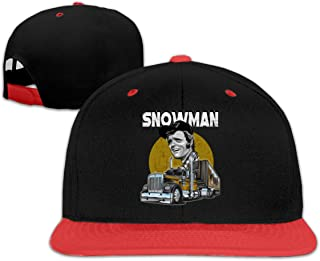 Jerry Reed Snowman Smokey and The Bandit Unisex Adjustable Hats Hip Hop Baseball Caps White