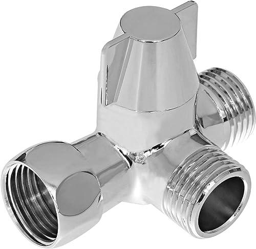 Yizhet Inverseur à 3 voies Commutateur de vanne pour douche, Douchette et douche de tête bras de douche inverseur 3 v...
