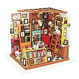 Robotime Puppenhaus DIY Haus Holz - Modernes Wohnhaus Puppenzubehör Haus Einrichtung - Weihnachten Spielzeug mädchen ab 14 Jahre (Bibliothek)