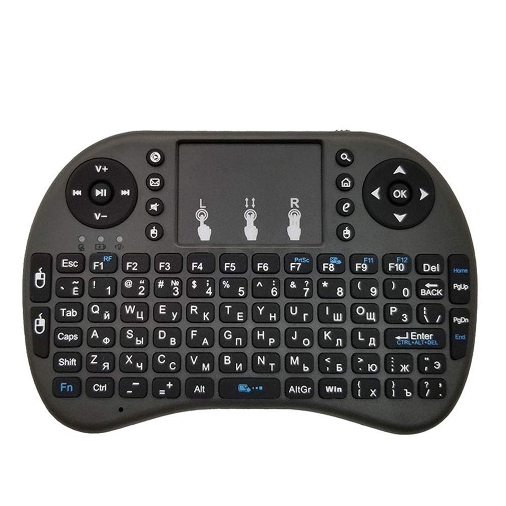 Soporte de Idiomas: Ruso i8 Teclado Air Mouse inalámbrico con touchpad for Android TV Box y Smart TV y Tablet PC y Xbox360 y PS3 y HTPC/IPTV: Amazon.es: Electrónica