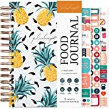 PLANBERRY Food Journal – Nutrition Planner with Diet & Calorie Tracker – Wellness Diary for Tracking Meals & Exercise – Weight Loss Journal for Women & Men - 6.3″ x 8.5″ (Pineapple)