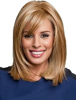 GNIMEGIL Fashion Long Golden Blonde Bob Wigs Goldilocks Hair Replacement Wig in Synthetic Fiber Daily Wear Full Wigs for Women Halloween Cosplay Wigs