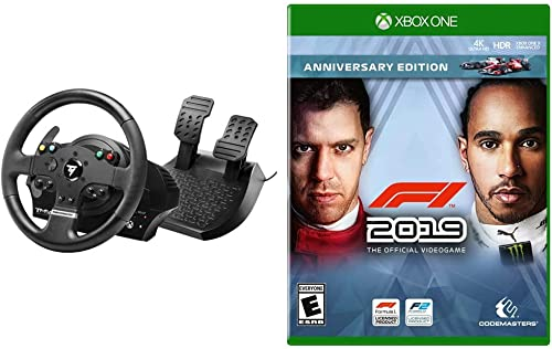 Thrustmaster TMX Force Feedback Racing Wheel (XBOX Series X/S, XOne & Windows) & F1 2019 Anniversary Edition - Xbox One