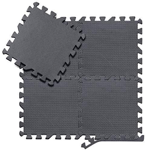 arteesol Schutzmatten Set - 18 Puzzlematten je 30x30x1cm,Premium Bodenschutzmatten Unterlegmatten Fitnessmatten für Sport Fitnessraum Fitnessgeräte Fitness Pool (18mat 30 * 30 * 1)