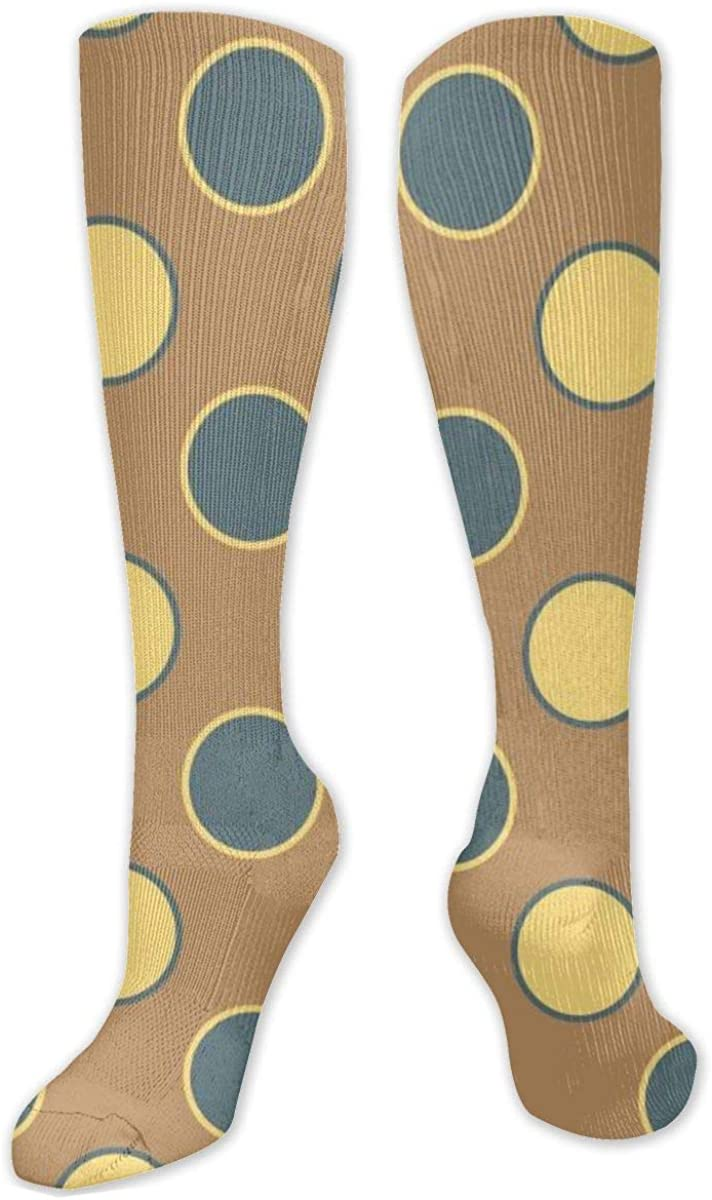 Retro-Dots Knee High Socks Leg Warmer Dresses Long Boot Stockings For Womens Cosplay Daily Wear