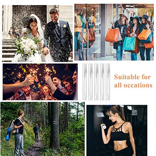 YOPAY 50 Pack 5ML Mini Plastic Spray Bottle, Refillable Perfume Bottle, Empty Mist Mouthwash Atomizer Bottle for Essential Oils, Travel Party Portable Makeup Tool