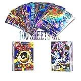 WOJIM - 100 Pokemon Cards,TCG Style Card,Flash Card Holo EX Full Art(100 - GX)