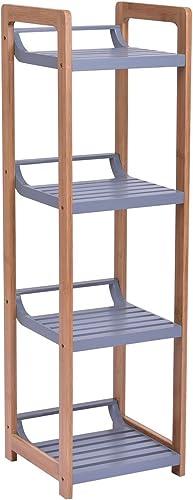 popular Giantex online 4 Tier Bamboo online Tower Rack Multifunction Storage Shelf Standing Storage Organizer outlet online sale