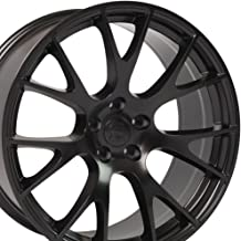 OE Wheels 20 Inch Fits Dodge Challenger Charger SRT8 Magnum Chrysler 300 SRT8 DG15 Hellcat Style Satin Black 20x9 Rim Hollander 2528