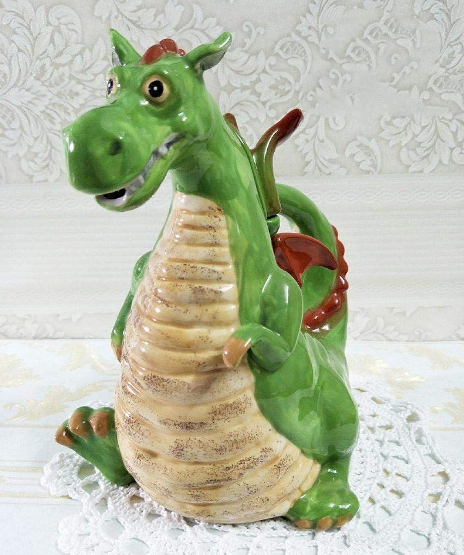 Théière En Céramique-Cadeaux De Décoration Pour La Maison De Théière En Céramique Peinte De Dinosaure