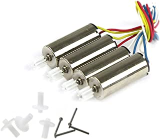 Coolplay 4pcs Anti-clockwise and Clockwise Motor with Plastic Gear Spare Parts only Replacement for Syma X11 X11C RC Quadcopter