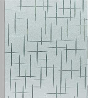 Sidewall Wallpaper Frosted Window Film, Static Decorative Privacy Glass Films For Kitchen Office Bathroom Anti UV Heat Control (Color : Color1, Size : 45x200cm)