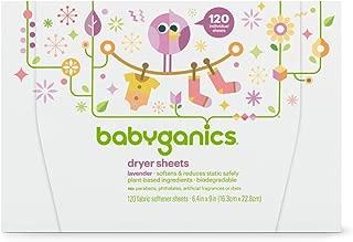 Babyganics Dryer Sheets, 120 count, Packaging May Vary