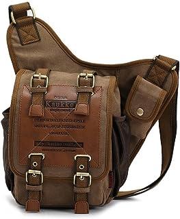 33d820e6ce KAUKKO Casual Vintage Male Mens  Canvas Single Shoulder Corss-body Chest  Bag Sling Pack