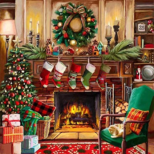 Christmas Diamond Painting Kits for Adults - Diamond Art Kits with Painting by Number Kits for Adults - Great Decor for Room,Office,Kitchen,Shop (Christmas 11.8x11.8Inch)