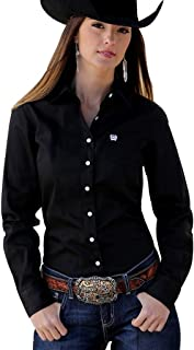 Cinch Apparel Womens Button Up Shirt M Black