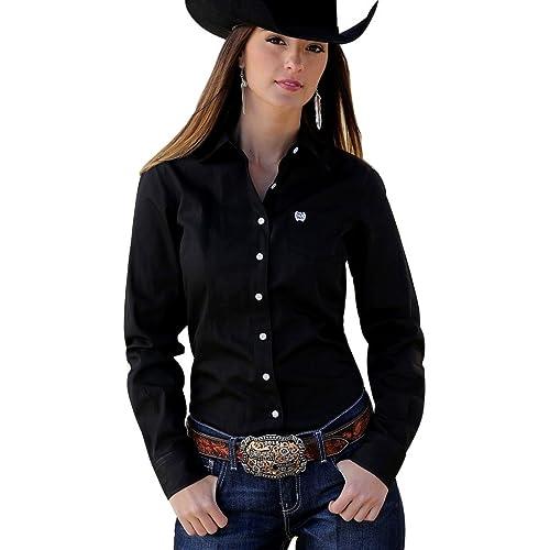 15d836342 Cinch Apparel Womens Button Up Shirt M Black