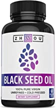Black Seed Oil Capsules – 100% Virgin, Cold Pressed Source of Omega 3 6 9 –..