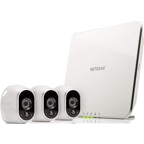 Arlo VMS3330 - Sistema Inteligente de Seguridad y Vigilancia con cámaras IP 100% Libres de Cables (3 unidades, montaje en interior y exterior, resistentes al agua, no sumergible)