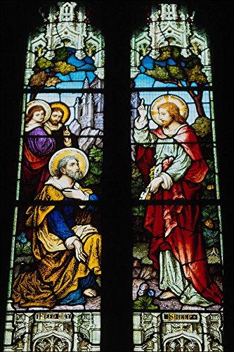 777010 glas in lood raam St Peter's Kerk Welford Warwickshire Engeland A4 Photo Poster Print 10x8