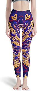 dcdbubud-Pants Mandala Soft Lightweight Fabric Sports Gym Running Capris - Tights Yoga Skinny Leggings Mandala