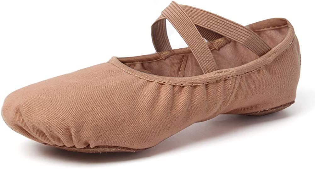 VCIXXVCE Ballet Shoes for Girls/Toddlers/Kids Stretch Canvas Ballet Slippers Dance Yoga Shoes