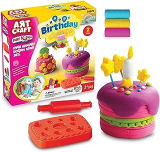 Dede Art Craft Birthday Play Dough Set for Kids Multi Color - 150 Grams