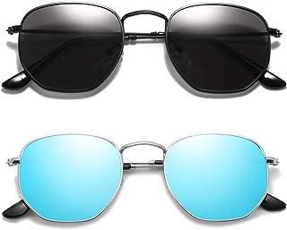 Square Polarized Sunglasses for Women UV Protection Retro...