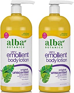 Alba Botanica Alba botanica very emollient, unscented body lotion, 32 ounce (2 pack)