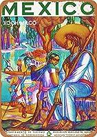 メキシコの観光、ブリキのサインヴィンテージ面白い生き物鉄の絵画金属板ノベルティ