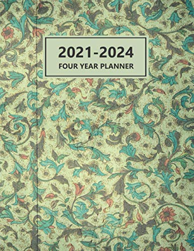2021-2024 Four year Planner: 48 Months Academic customized 2021-2024 Pretty Simple 4 year Planner Notebook, Calendar Schedule, January December To Do ... Personal Appointment, Daily & weekly Notes
